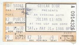 RARE Julian Lennon 5/31/86 Tampa USF Sun Dome Ticket Stub! John The Beatles - $8.90