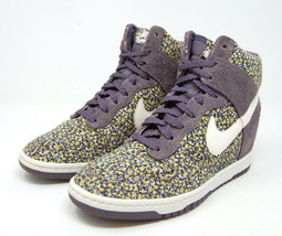 NIKE Dunk Sky Hi Liberty Purple hidden heel wedge sneaker 7.5 - $59.99