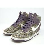 NIKE Dunk Sky Hi Liberty Purple hidden heel wedge sneaker 7.5 - $59.99