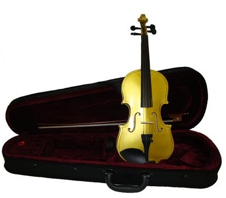 "Crystalcello 11"" Gold Viola with Case and Bow"