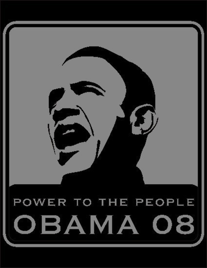 Obama power to the people grey