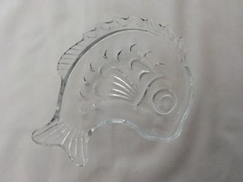 Fish Shaped Candy Bowl Clear Glass  Studio Nova Japan 6 Inch - $20.79