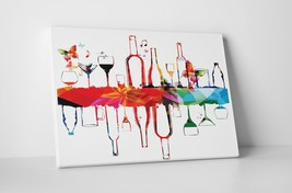 """Wine Reflection Kitchen Wall Art Gallery Wrapped Canvas. 30""""x20 or 20""""x16"""" - $44.50+"""