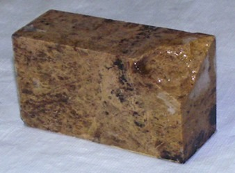 Marbled Steatite Carving Stone for Peace Pipe or Crafts