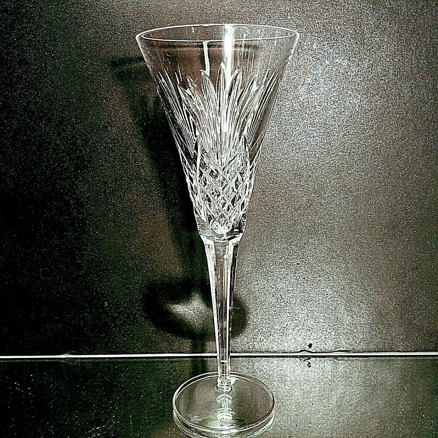 Primary image for 1 (One) WATERFORD HOSPITALITY COLLECTION Cut Crystal Fluted Champagne -Signed