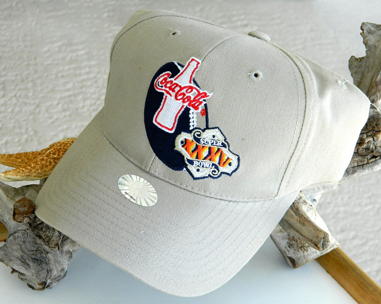 Super bowl xxxv nfl cap hat coca cola ravens giants new tags