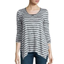 a.n.a Long Sleeve V Neck Stripe Shirt Size XS Msrp $38.00 New  - $12.99