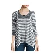 a.n.a Long Sleeve V Neck Stripe Shirt Size XS Msrp $38.00 New - $12.99