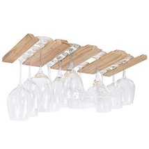 Rustic State Under Cabinet Wooden Hanging Wine Glass Holder by ArtifactD... - $25.19