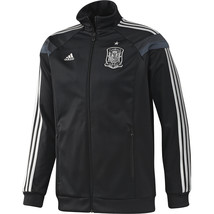 ADIDAS SPAIN ANTHEM JACKET FIFA WORLD CUP 2014 Black/Silver. - $95.00