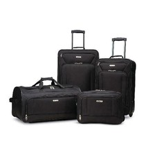 Black Fieldbrook XLT 4 Piece Softside Luggage Set (Durable Polyester Fab... - $86.20
