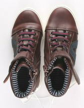 0Cat & Jack Toddler Boys' Brown Ed Sneakers Mid Top Shoes 12 US NWT image 6