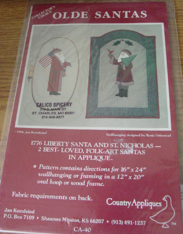 "Pattern Wall Decor ""Olde Santas"" small quilts"