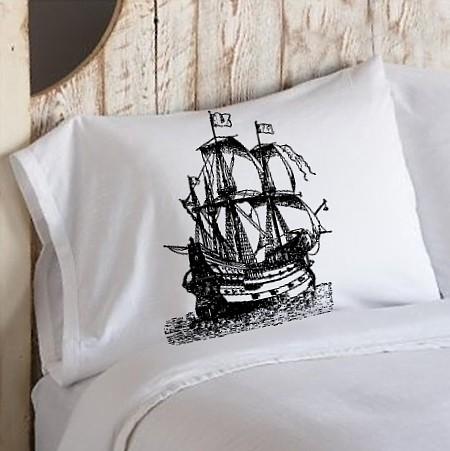 Black clipper pillowcase