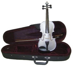 Crystalcello 1/16 Size Silver Violin with Case and Bow - $35.00