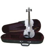 Crystalcello 3/4 Size Silver Violin with Case and Bow - $35.00