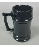 Frankoma Pottery Stein M2 handle mug Onyx Black Glaze Sapula Red Clay 18 oz - $26.50