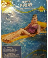 "SUNSHINE Inflatable Float 72"" Orange Adult Pool Mattress -New In Sealed ... - $9.89"