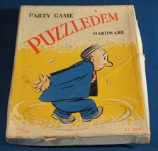Vintage Puzzled'em Hardware Party Card Game - $13.85