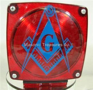 Masonic Freemason Mason Taillight Decals Blue
