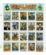 MINT Sheet  1995 Civil War Stamps  - $18.00
