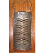 Vintage Gilmore Tin Curved Grater Shredder Patent 1890's  - $25.99