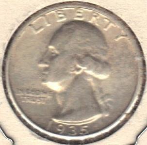 Nice 1935 P Washington Quarter