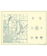 Dallas County Texas Cities pt 3 - Highway Department 1936 - 23.00 x 31.29 - $36.58 - $94.00