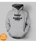 Jeep Beer funny black logo Hoodie 4X4 AWD suv f... - $29.85