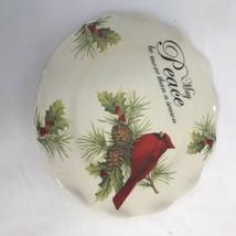 Cracker Barrel Holiday Garden Cardinal Replacement Plate  - $14.85