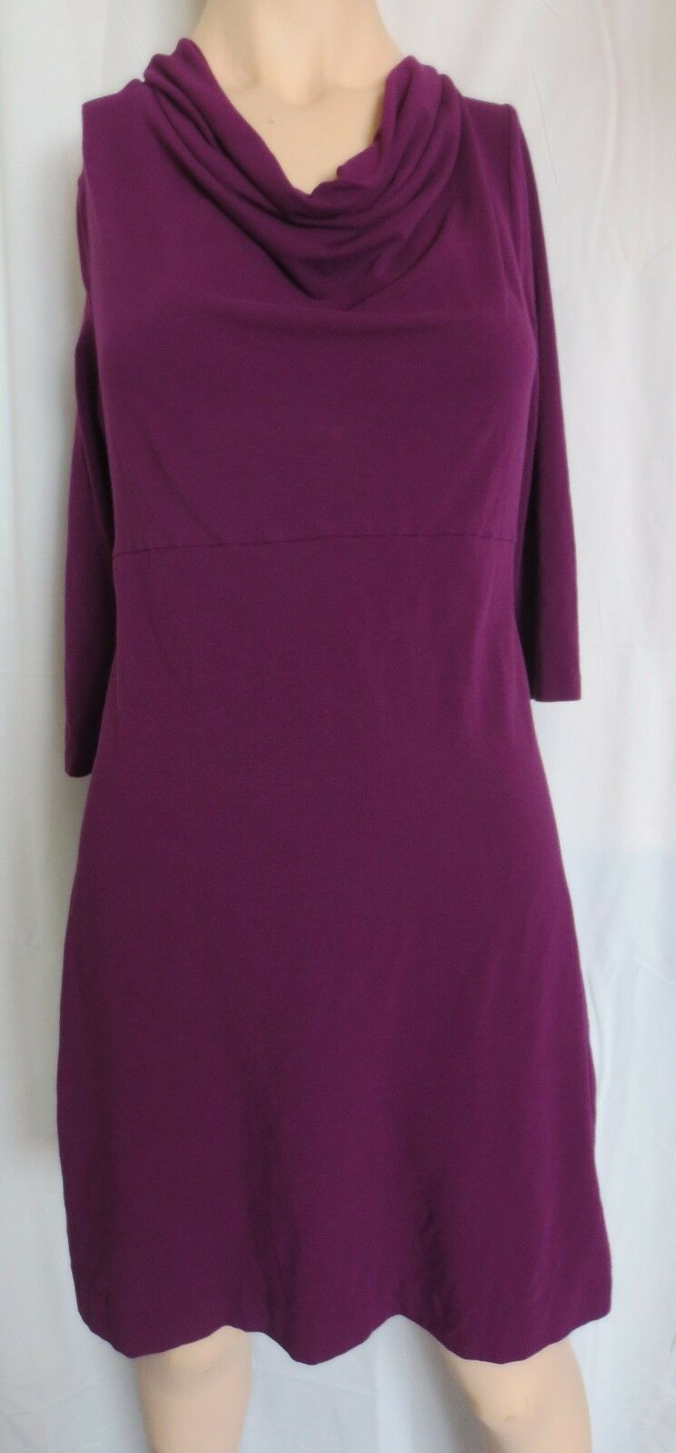 Primary image for J Crew Cowl neck stretch cotton jersey dress Purple Size M