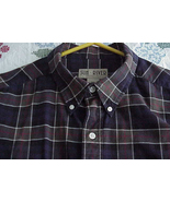 SUN RIVER KHAKIS mens  BLUE OLIVE   Plaid   COTTON shirt sz XXL - $12.99