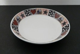 Oneida American Quilt Majesticware D.C. Brown & Co Soup Bowl  Red White ... - $8.90