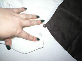 Womens NWT $398 Worth New York 6 Dress Brown White Silk Tencel Colorblock Office image 2