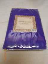 New deep violet purple Florentine Collection set 2 matching pillowcases ... - $7.91