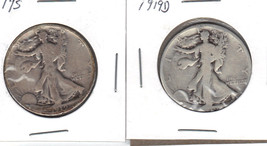 1919 S,1919 D Walking Liberty half dollars. - $35.00