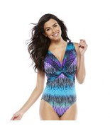 Great Lengths Long Torso & Tummy Slimmer Twist-Front One-Piece Swimsuit ... - $62.37