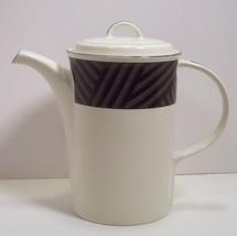 Mikasa Intaglio Calypso Black Coffee Pot with Lid Nancy Green design CAA02 - $9.99