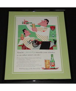 1958 Seven Up 7 Up 11x14 Framed ORIGINAL Vintage Advertisement B - $46.39
