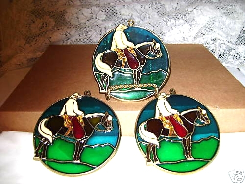 Cowboy  Suncatcher Ornaments