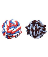 Panda Legends 2 Pcs Fist Ball Dog Toy Knot Rope Ball Chew Dog Puppy Toy ... - $15.02