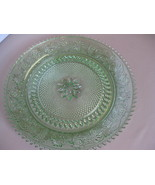 "Indiana Glass Tiara Exclusives Chantilly Sandwich 12"" Round Platter or T... - $42.99"
