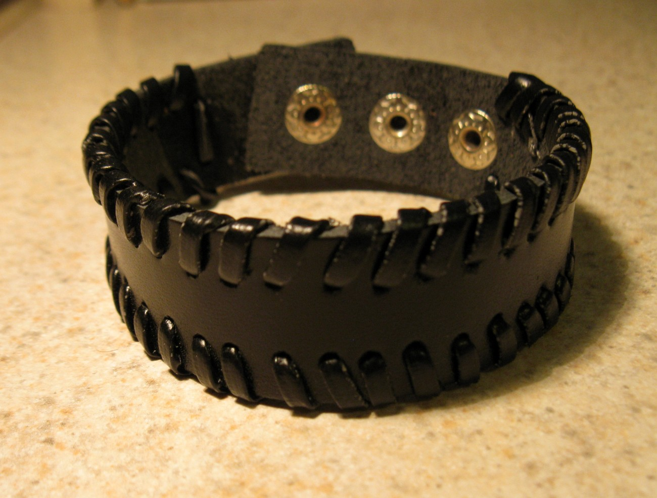 50 black leather wrap