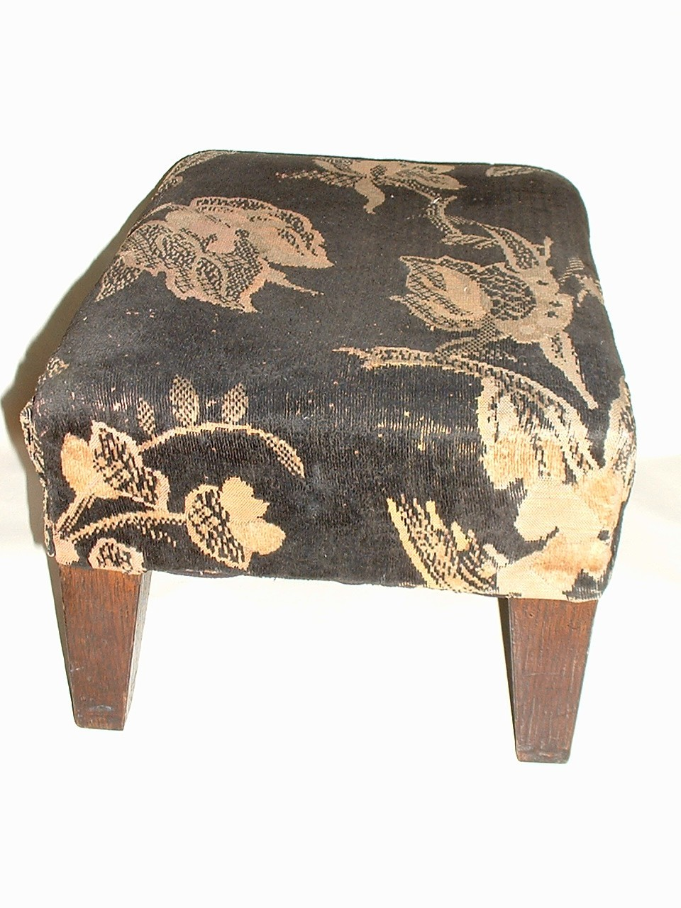Vintage   Foot Stool Footstool  with Oak Legs