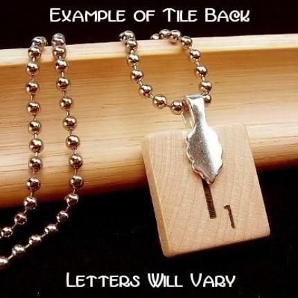 CHAI - LIVING - LIFE - JEWISH SYMBOL - Scrabble Pendant