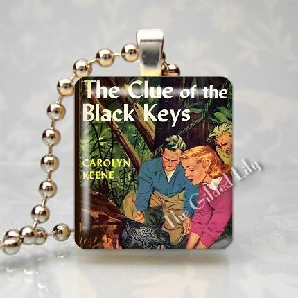 VINTAGE NANCY DREW BOOK - Altered Art Scrabble Pendant