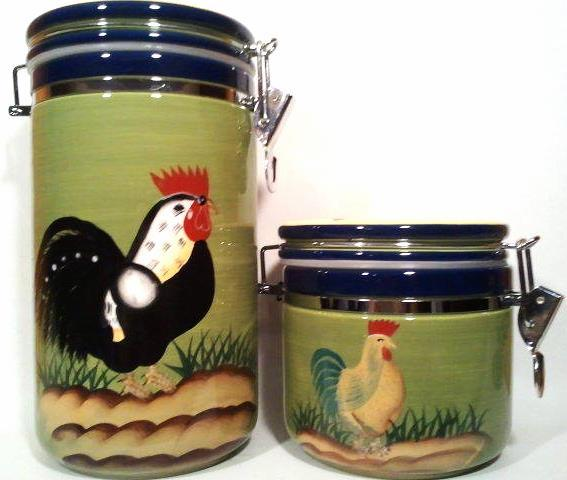 Provence Rooster Collection Canisters Style Eyes Baum Brothers