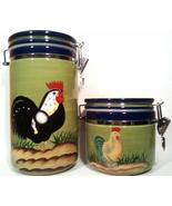 Provence Rooster Collection Canisters Style Eyes Baum Brothers - $50.00