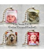 CUSTOM SCRABBLE TILE PHOTO CHARM PENDANT Use Your Image - $8.95