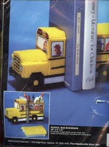 School Bus Bookends Bucilla Plastic Canvas Kit NIP - $17.97